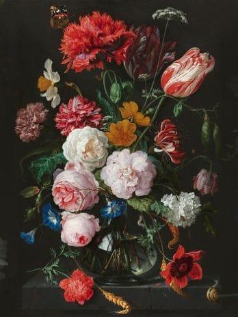 029.21a Wandvullende creatie van het stilleven met bloemen van Jan Davidsz de Heem