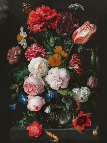 029.21b Aangepaste print van het stilleven met bloemen van Jan Davidsz de Heem