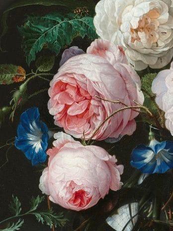 029.21c Detail print van het stilleven met bloemen van Jan Davidsz de Heem