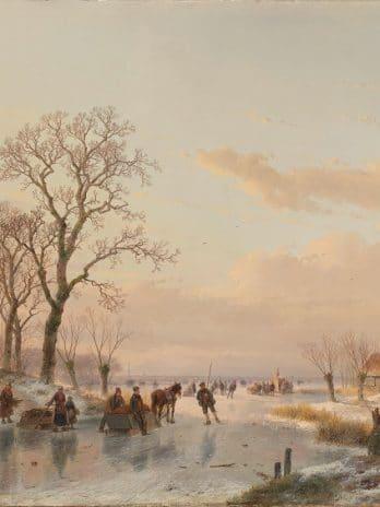 029.49 Een bevroren vaart bij de Maas