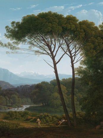 029.52 Italiaans landschap met pijnbomen