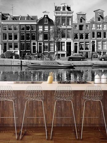 051.04 Zwart/wit foto uit de jaren 60 van Amsterdam