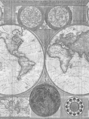 052.03 Zeer gedetailleerde wereldkaart