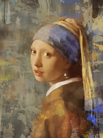 055.01b Het meisje met de parel bewerkte versie