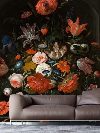 055.12 Bloemen in een glazen vaas