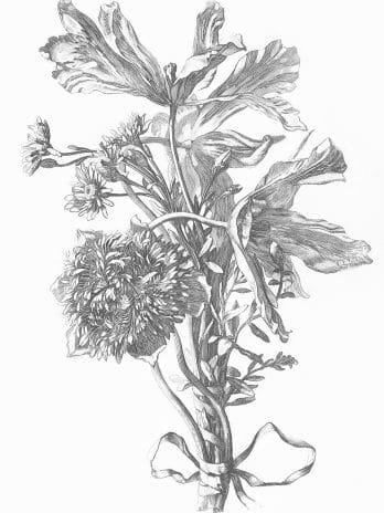 103.02 Pentekening van bloemen