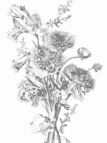 103.03 Pentekening van wilde bloemen