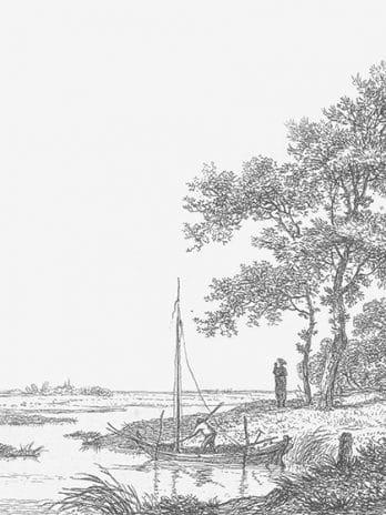 103.05 Pentekening van landschap