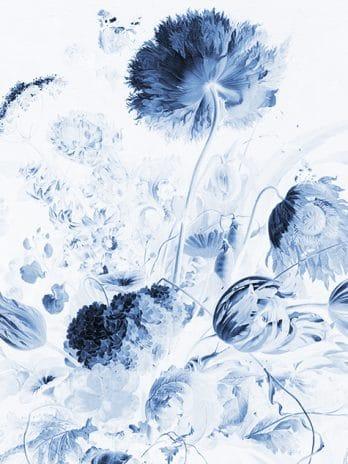 103.07 Pentekening veldboeket in blauw