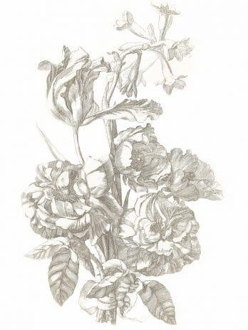 103.08 Pentekening bloemen