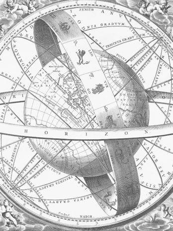 103.12 Pentekening astrologische wereldkaart