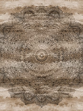 103.13b Mandala sepia