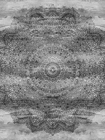 103.13c Mandala zwart/wit