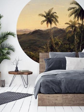 BC005 Italiaans landschap met palmbomen