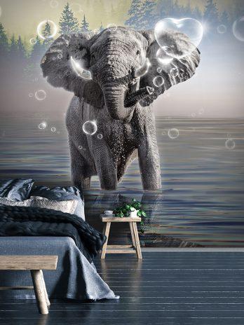 Olifant met bubbels – Fantasie